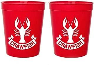 Crawfish Red Stadium Plastic Cups - Crawfish Banner (10 cups)