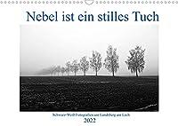 Nebel ist ein stilles Tuch - um Landsberg am Lech (Wandkalender 2022 DIN A3 quer): Schwarz-Weiss-Fotografien von Martina Marten (Monatskalender, 14 Seiten )