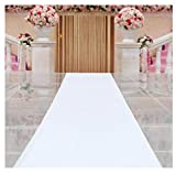 LH-Teppiche Weißer Gang-Läufer-Pailletten-Teppich für Hochzeit, Kirchen-weiße Wolldecke, Gang-Läufer (Farbe : Weiß, größe : 1x10 m)