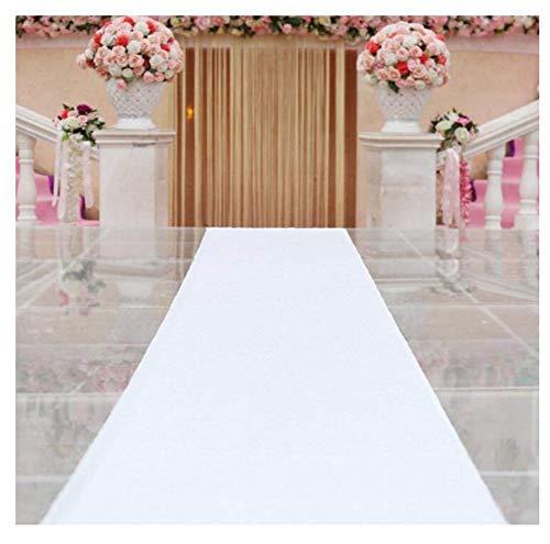 Alfombra Blanca de la Lentejuela del Corredor del Pasillo para la Boda, Alfombra Blanca de la Iglesia, Corredor del Pasillo (Color : Blanco, Tamaño : 1.2x10 m)