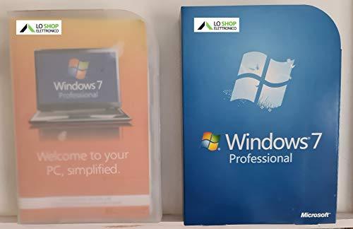 Windows 7 Pro Professional Retail Box 32 - 64 Bit ITALIANO + Licenza - Confezione Ufficiale - Attivazione Online - Fatturabile