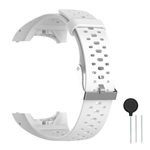 WEINISITE Silicone Ajustable Rempla/çant Bracelet Pour Polar M400//M430 GPS Montre intelligente