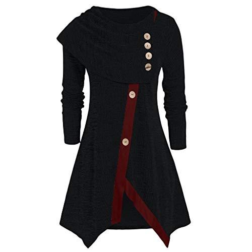 Mittelalter Kleidung Damen,Frauen Übergröße T-Shirt Tops Asymmetrische Space Bluse Tunika-Pullover Renaissance Oberteile Bluse Mittelalter Kleid Steam Punk Gothic Kleidung Sweatshirt