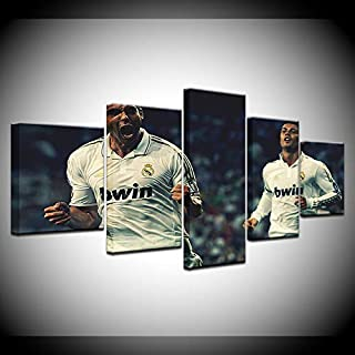 ZHFFYY Canvas Painting 5 Pieces Canvas Painting Madrid 5 Pieces Wall Art Painting Modular Sport Wallpapers Poster Print Living Room Home Decor