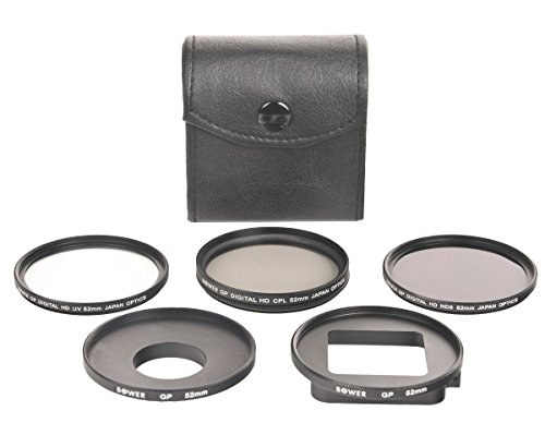 Bower Xtreme Action Series VFKGP6 6-Piece Filter Kit for GoPro HERO3+, HERO4 (UV, CPL, ND8)