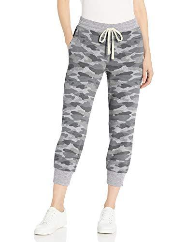Amazon Essentials Women's French Terry Fleece Capri Jogger Sweatpant, Grey Camo, Small