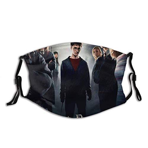 Harry Potter Máscara de borde negro para adultos, protección facial portátil, bandana, borde elástico, pasamontañas