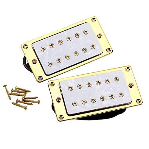 Guitarra eléctrica Humbucker White Pearl Pastilla de doble bobina (mástil y puente)...