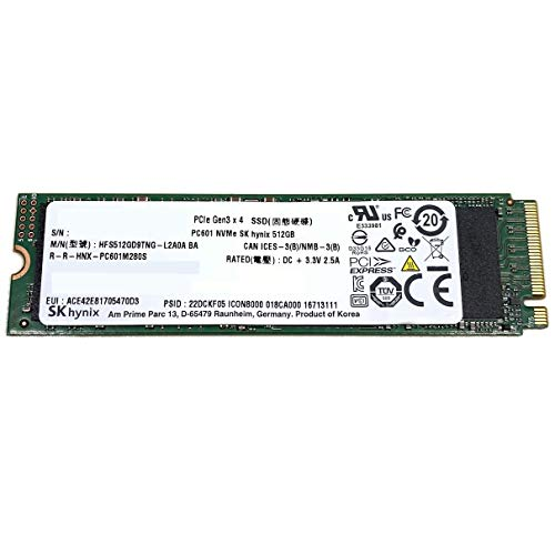 SK Hynix SSD 512GB M.2 2280 PCIe Gen3 x4 PC601 HFS512GD9TNG for Laptop Desktop Ultrabook