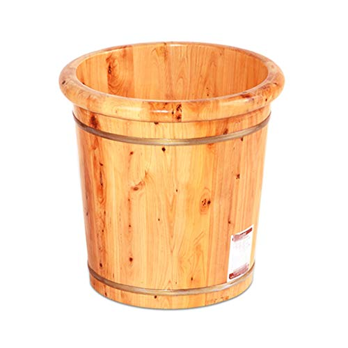 CYLQ Voetbad om de voeten, Wood Foot Spa voetvoet, om te drinken de voeten massageapparaat en pedicure voetbad emmer voor Spa-behandelingen thuis sauna 40cm