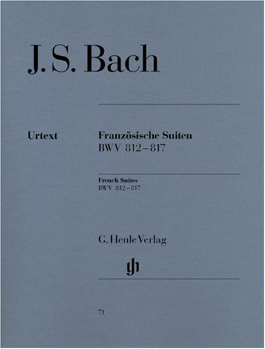 Bach Suites Francaises Bwv 812 817 Piano Edtion Henle
