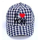 [BESTLEE] キャンプ 野球帽 キッズ チェック柄帽子 通気性が良い 熱中症 紫外線予防 男の子 女の子 小学生 サッカー 運動 青色