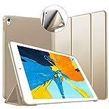 VAGHVEO Funda para iPad Pro 9,7 2016, Ultra Delgada Smart Carcasa con Auto-Sueño/Estela Función, Flexible de Goma Suave Cover Protectora Estuche Plegable para Apple iPad Pro 9.7 Pulgadas Tableta, Oro