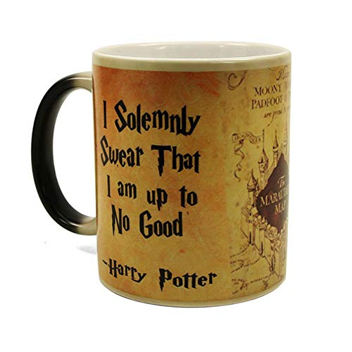 Magic Mug Harry Hot Drink Cup Color Changing Mug Potter Marauders Map Mischief Managed Wine Tea Cup Creative Gifts,Rune