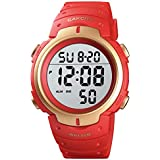 CakCity Digital Sports Watches for Men - Mens Wrist Watch Waterproof with Alarm Stopwatch LED Backlight Large Display for Snorkeling
