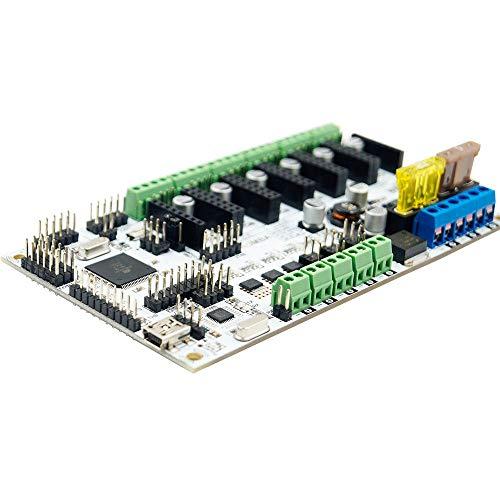 Impresora 3D Mainboard Control de Board Support 3 cabezales de impresión for la impresora 3D Placa Base Plus 12V mejorada placa base integrada Para máquina cnc ( Color : Gray , Size : One size )