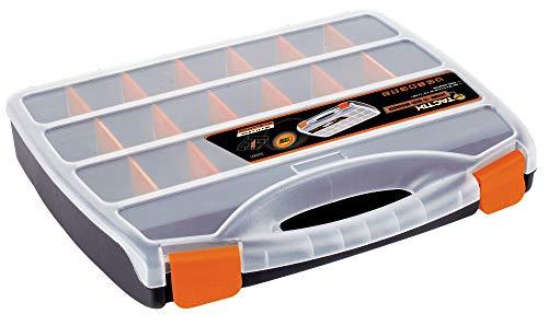 Tactix 320001organizador, 38cm, negro/naranja