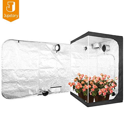 JT Jupetory 48'x48'x80' Mylar Hydroponic Grow Tent with Removable Floor Tray for Indoor Plant Growing Garden Growing Dark Room 4'x4' (48'x48'x80')