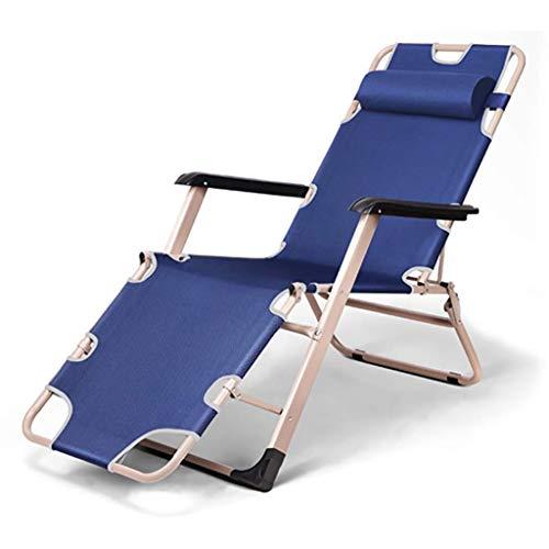 LVLUOYE Fauteuil Relax,Chaise à Bascule Pliante de Loisirs, Lits, Faire la Sieste des chaises de Bureau, lit d'adulte, adapté à l'extérieur, Salon, Jardin (Couleur: B) -B