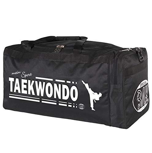 BAY® XL Sporttasche Mein Sport Taekwondo, TKD, Tae Kwon Do, Taekwon Do, Tasche, Trainingstasche, Taschen Bag, schwarz, 70 x 32 x 30 cm Motiv