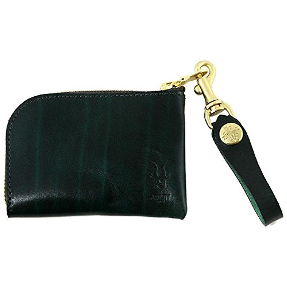 暴動つまずく不測の事態アジリティ ルガトーアルジャン L型財布 Agility 革のコインケース 日本製 手作り品 グリーン