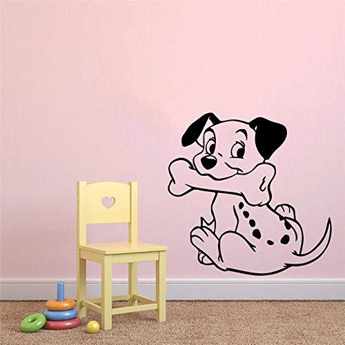 75x75cm lindo hueso cachorro bebé divertido pegatina de pared mural pintor para el dormitorio de los niños lindo adhesivo decorativo de pared mural de vinilo
