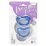 CURAPROX Baby Schnuller, blauer Schnuller, mit Aufbewahrungsbox, Größe 1; 7 bis 10kg bzw. 7-18 Monate, Pacifier, Soothie, blau, 2 Stück, 32 g