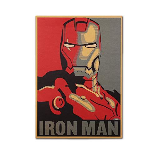 posters for men Vintage Marvel Superhero Iron Man Poster Retro 20 x14 Inch Unframed Marvel Posters Avengers Wall Art Kraft Paper Home Decor Posters Under 10 Dollars