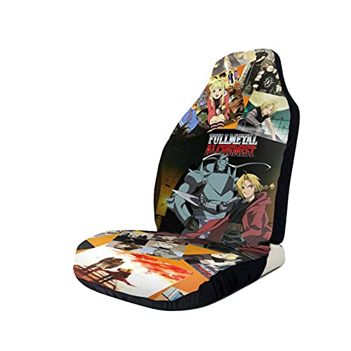 Fullmetal Alchemist Auto Seat Covers,Front Seat Bucket Seat Cover,Cute Vehicleseat Cushion Protectors Cover,Automotive Interior Fit For Truck Van Suv 2 Pcs
