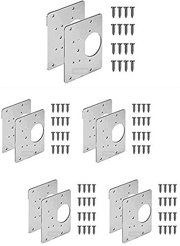 Hinge Repair Plate,Kitchen Cabinet Hinge Repair Kit,Used to Repair The Damage of Cabinet Door,House Door Side Panel (10pcs)