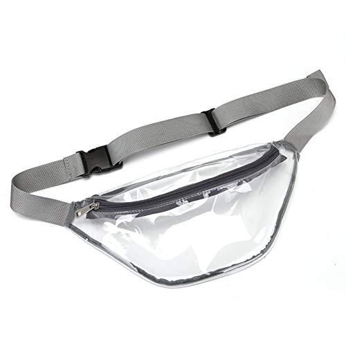Geagodelia Bauchtasche Gürteltasche für Damen Herren wasserdichte Transparente Hüfttasche mit Verstellbarer Gurt für Wandern Joggen Sport Outdoor FB18716 (Grau)