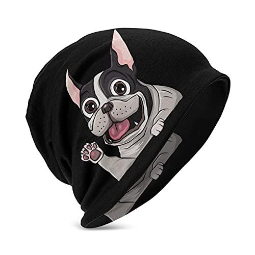 Puppy French Bulldog Childrens Beanie Knit Caps for Boys Girl Winter Warm Hat