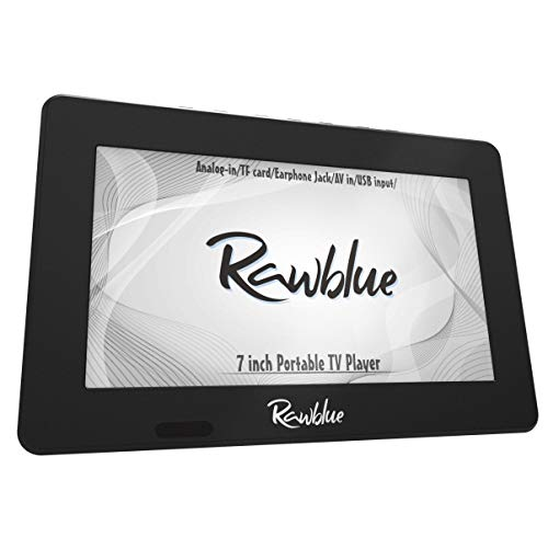 Rawblue 7 Inch Portable Digital TV ATSC TFT Screen Freeview LED TV.Built-in Battery Television/Monitor with Multimedia Player Support USB Card for Car,Caravan,Camping,Outdoor or Kitchen