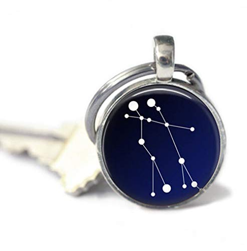 because meet you Gemini Constellation Keychains,Key Ring, Gifts for her,Key Fob