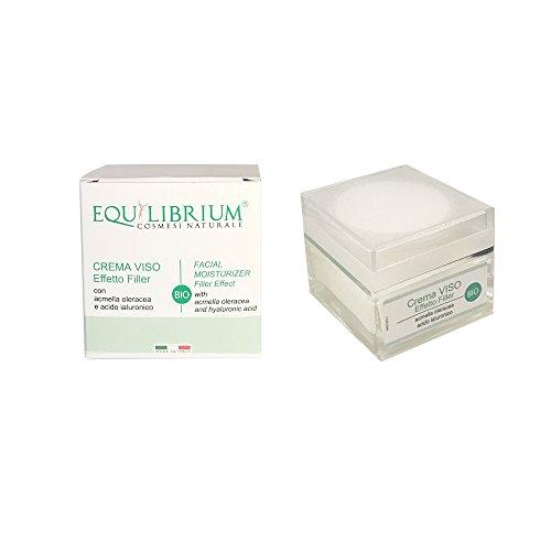 EQUILIBRIUM - COSMESI NATURALE Efecto de relleno de crema facial con acmella oleracea y ácido hialurónico orgánico