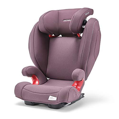 Recaro Kids, Monza Nova 2 SF Kindersitz für Kinder von 15-36 kg, Gruppe 2-3, für Kinder von 3,5 bis 12 Jahren, für Autos mit und ohne ISOFIX-System, Integriertes Soundsystem, Prime Pale Rose