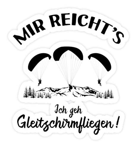 shirt-o-magic Aufkleber Paragliding: Ich geh Gleitschirmfliegen! - Sticker - 5x5cm - Weiß