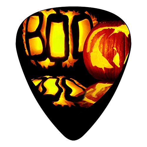 STREMUSIC Halloween Boo Celluloid Electric Guitar Picks 12-pack Plectrums For Bass Music Tool