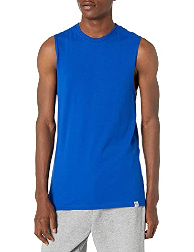 Russell Athletic Men's Cotton Performance Sleeveless Muscle T-shirt,Royal,XX-Large