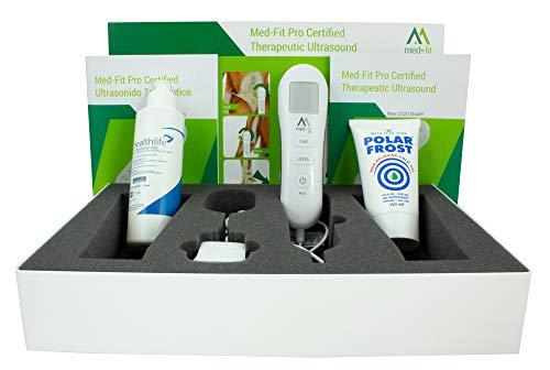 Med-Fit Pro Duo-Sonic Physiotherapy Machine with Pulsed and Continuous Output for Muscle Pain Relief in Acute and Chronic Conditions Ideal for All Joint Pain - Fully Certified Class 2A Device CE 0197