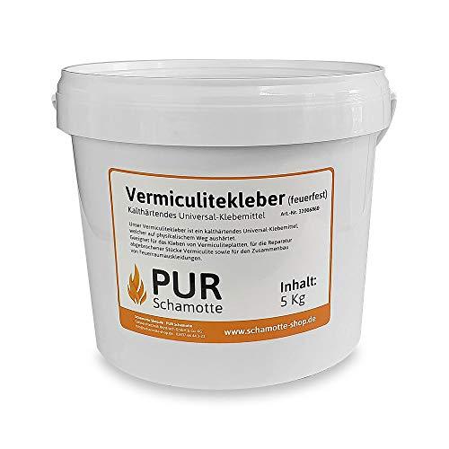 PUR Schamotte Vermiculitekleber feuerfest 5kg Eimer