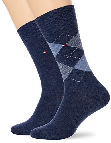 Tommy Hilfiger Herren Socken (2er Pack), Blau (Blue), 39-42
