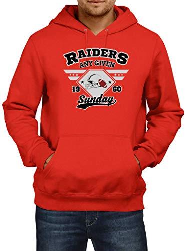 Preisvergleich Produktbild Shirt Happenz Raiders Any Given Sunday Oakland American Football Super Bowl Premium Hoodie Herren Kapuzenpullover,  Größe:S,  Farbe:Rot