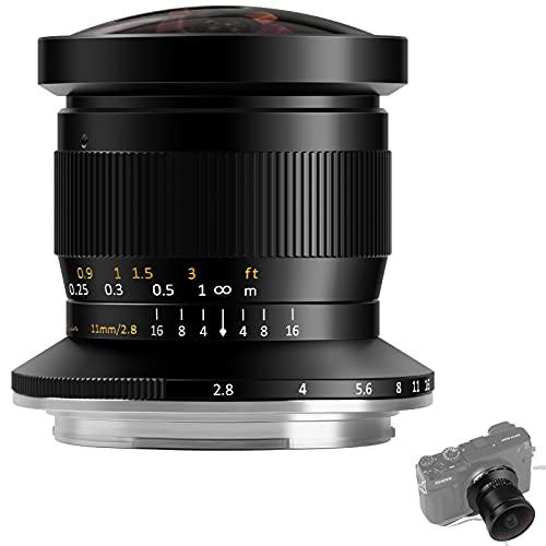 TTArtisan Lente de cámara F2.8 de 11 mm Full Fame Fisheye compatible con cámaras de montaje GFX GFX100 GFX100S GFX50R GFX50 (montaje GFX)
