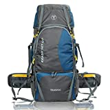 TRAWOC 60 Ltr Trekking Rucksack Travel Bag Hiking Backback, English Blue (1 YEAR WARRANTY)