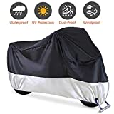 Motorcycle Cover, Waterproof Motorcycle Cover All Weather...