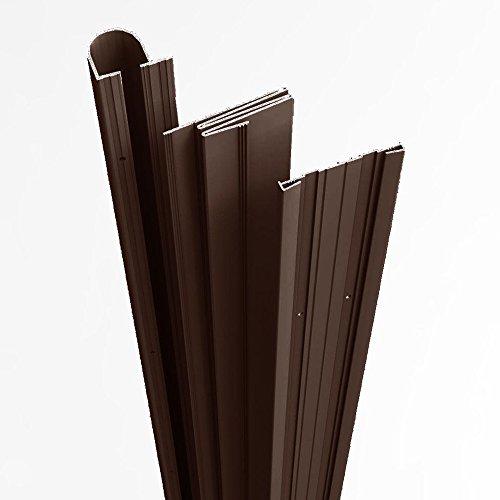 "Complete Door Safety Shield Set | Finger Pinch Protector Guards for Door Hinges (84"", Brown)"