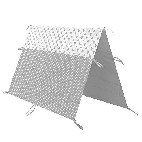 Vitalispa Überwurf Kinderbett Indianerzelt für Tipi Bett Zeltbett Zelt (90x200cm)