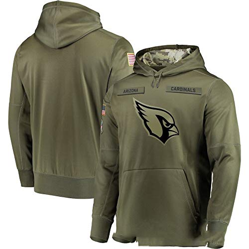 Xyy NFL Jersey Cardinals Arizona -Lüfter Hoodie, hochwertige Armee grün Bestickt Sweatshirt, American-Football-Trikot NFL Hoodie (Color : Man, Size : L)