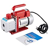 Orion Motor Tech 4.5CFM Single Stage Vacuum Pump (1/3HP, 1/4 inch Flare) for AC HVAC Refrigerant Recharging, Wine Degassing, Milking, Medical, Food Processing (Oil Not Included)